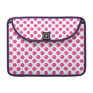 Bolinhas cor-de-rosa bolsas para MacBook