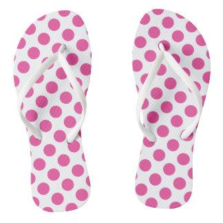 Bolinhas cor-de-rosa chinelos