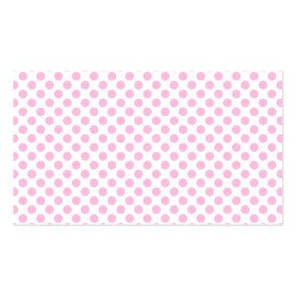 Bolinhas cor-de-rosa com fundo customizável cartão de visita