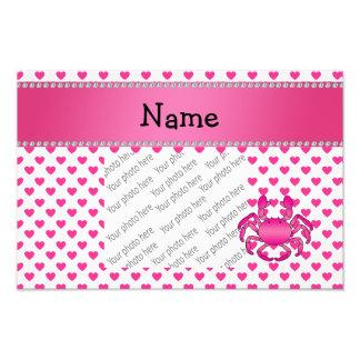 Bolinhas cor-de-rosa conhecidas personalizadas dos foto arte