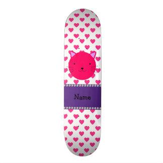 Bolinhas cor-de-rosa conhecidas personalizadas dos shape de skate 18,7cm