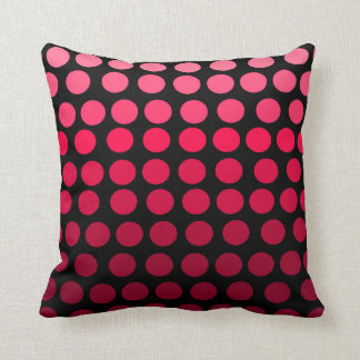 Bolinhas cor-de-rosa e pretas de Ombre do Almofada