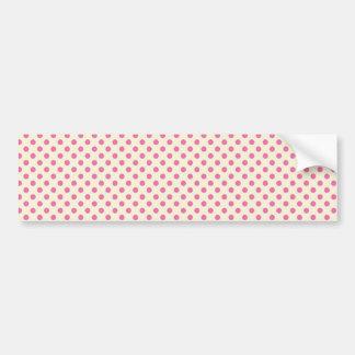Bolinhas cor-de-rosa femininos do vintage adesivos