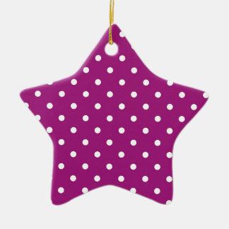 Bolinhas cor-de-rosa ornamento de cerâmica