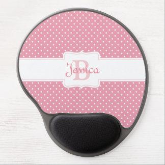 Bolinhas cor-de-rosa personalizadas mouse pad de gel
