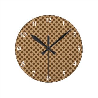 Bolinhas de Brown Relógios De Pendurar