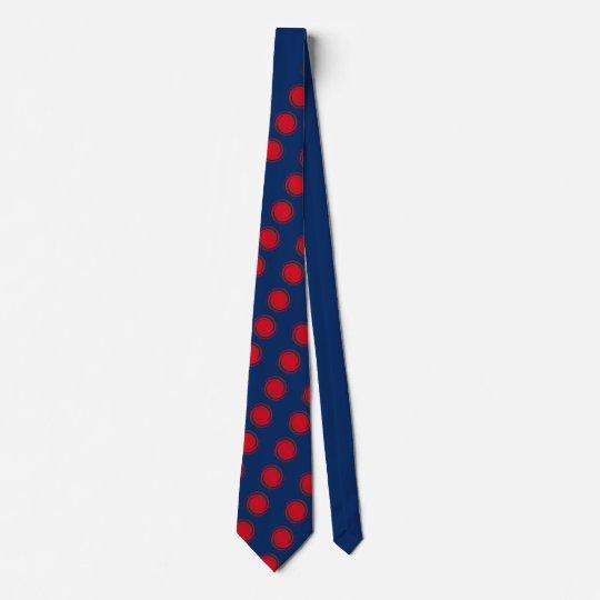 Bolinhas de roda vermelhas gravata