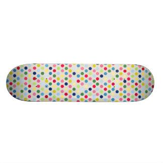 Bolinhas do arco-íris shape de skate 18,4cm
