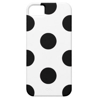 bolinhas do caso do iPhone 5/5S brancas & pretas Capa Para iPhone 5