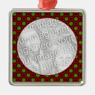 bolinhas do feriado ornamento quadrado cor prata