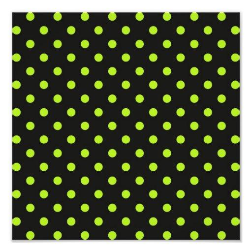 Bolinhas do preto e do verde limão foto arte