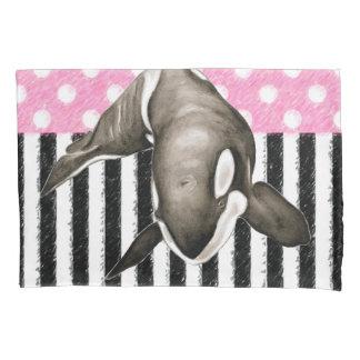Bolinhas do rosa da baleia da orca