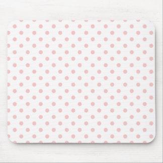 Bolinhas do rosa de bebê mouse pad