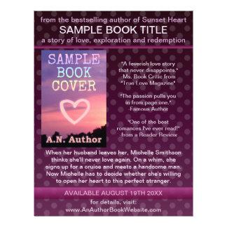 Bolinhas do roxo da promoção do livro do autor do flyer 21.59 x 27.94cm