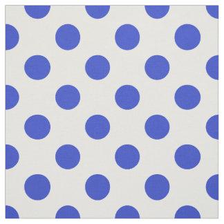 Bolinhas dos azuis marinhos tecido