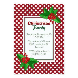 Bolinhas e convite da festa de Natal do azevinho