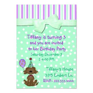 Bolinhas e convite do aniversário do cão de