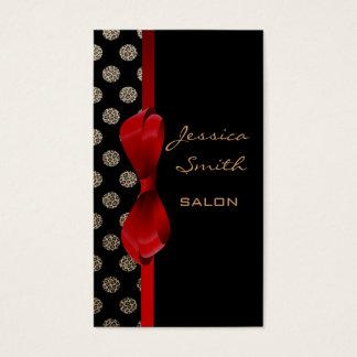 Bolinhas encantadores adoráveis do impressão do cartão de visitas