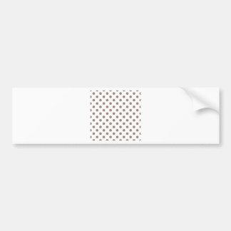 Bolinhas grandes - castor no branco adesivo