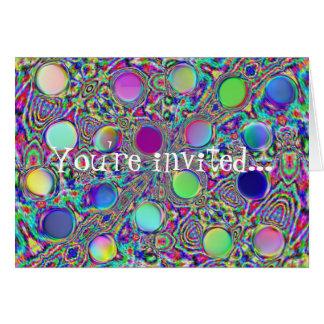 Bolinhas Groovy de cristal Invitiation 2 Cartão De Nota