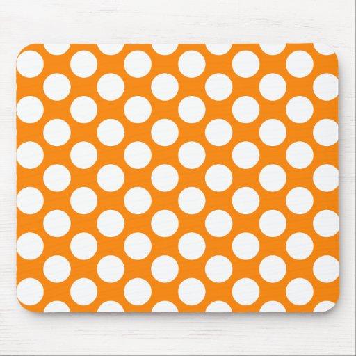 Bolinhas na laranja mousepad