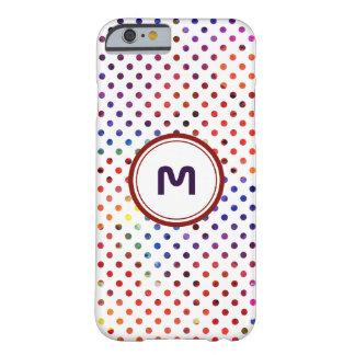 Bolinhas personalizadas | do arco-íris do capa barely there para iPhone 6