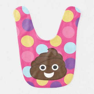 Bolinhas Poo Emoji Babador Infantil