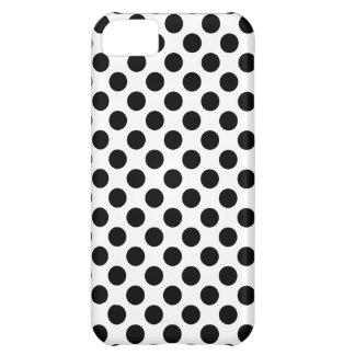 Bolinhas pretas capa para iPhone 5C