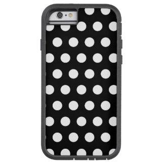 Bolinhas preto e branco capa tough xtreme para iPhone 6