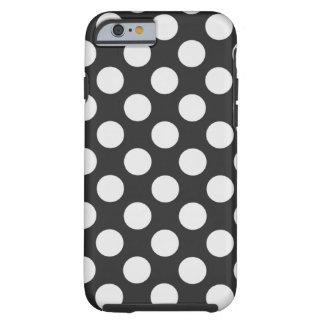 Bolinhas preto e branco capa tough para iPhone 6