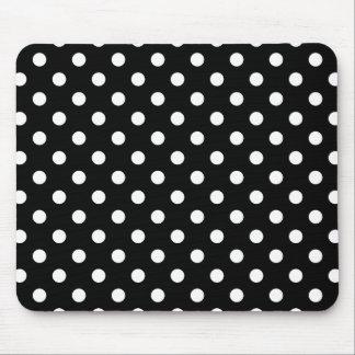 Bolinhas preto e branco mouse pad