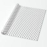 Bolinhas preto e branco papel de embrulho