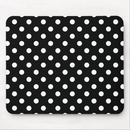 Bolinhas preto e branco mousepad