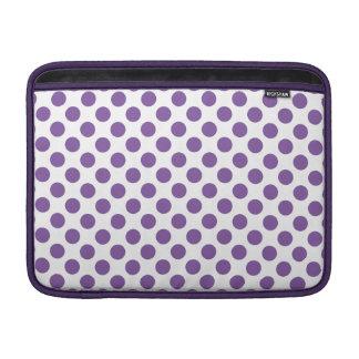 Bolinhas roxas bolsa de MacBook air