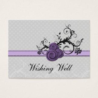 bolinhas roxas pastel do damasco que desejam cartão de visitas