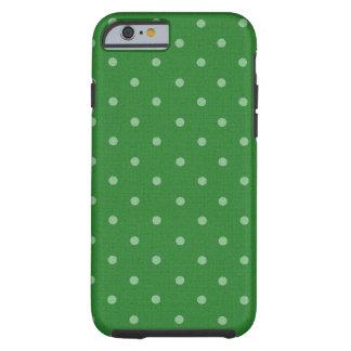 bolinhas verdes retros capa tough para iPhone 6