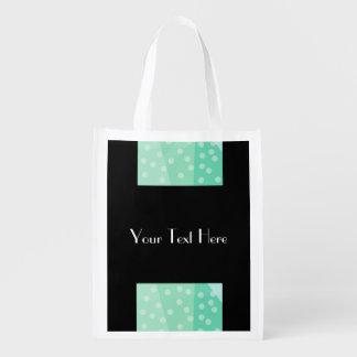 Bolinhas verdes & saco reusável dos pontos sacolas reusáveis