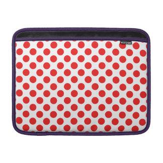 Bolinhas vermelhas bolsas de MacBook air