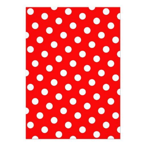 Bolinhas vermelhas e brancas convite