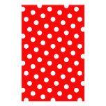 Bolinhas vermelhas e brancas papelaria