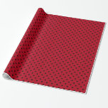 Bolinhas vermelhas e pretas papel de presente