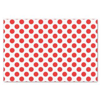 Bolinhas vermelhas papel de seda