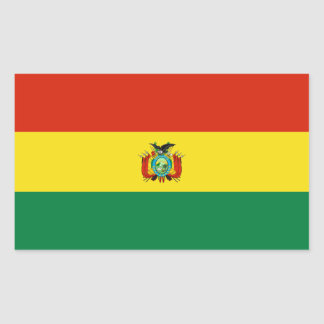 Bolívia/bandeira boliviana adesivo retangular