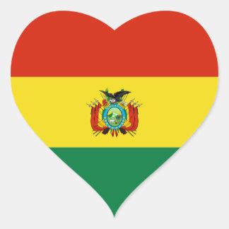 Bolívia/bandeira boliviana do coração adesivo coração