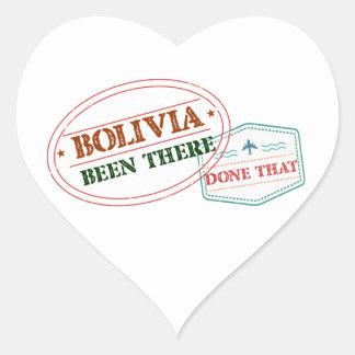 Bolívia feito lá isso adesivo coração