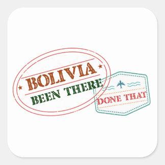 Bolívia feito lá isso adesivo quadrado