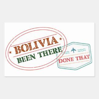 Bolívia feito lá isso adesivo retangular