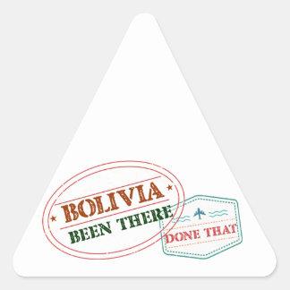 Bolívia feito lá isso adesivo triangular