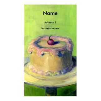 bolo cartão de visita