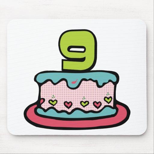 Bolo de aniversário da criança de 9 anos mouse pad